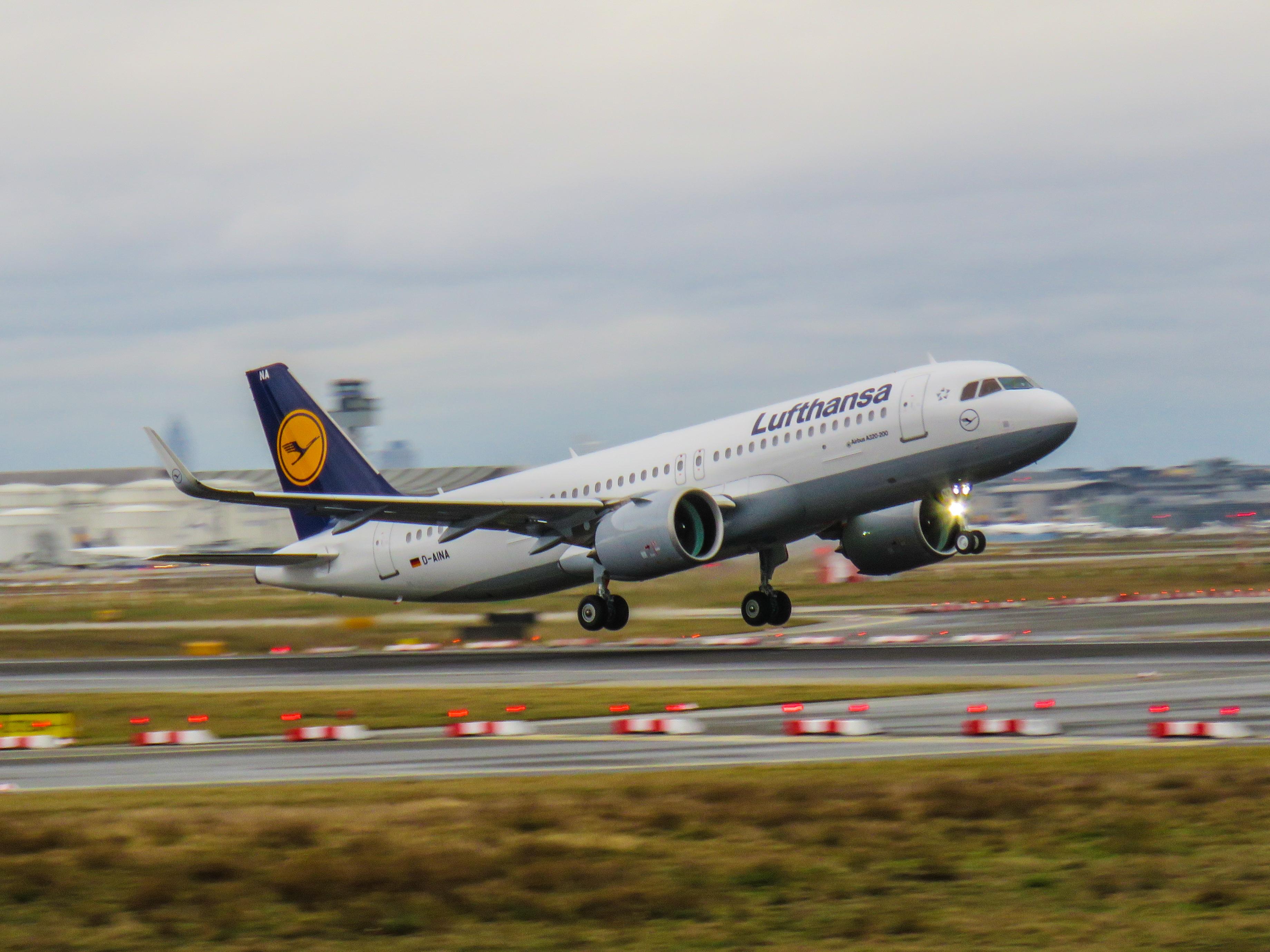 Den allerførste Airbus A320neo i verden, der blev leveret til Lufthansa. Foto: Kiefer