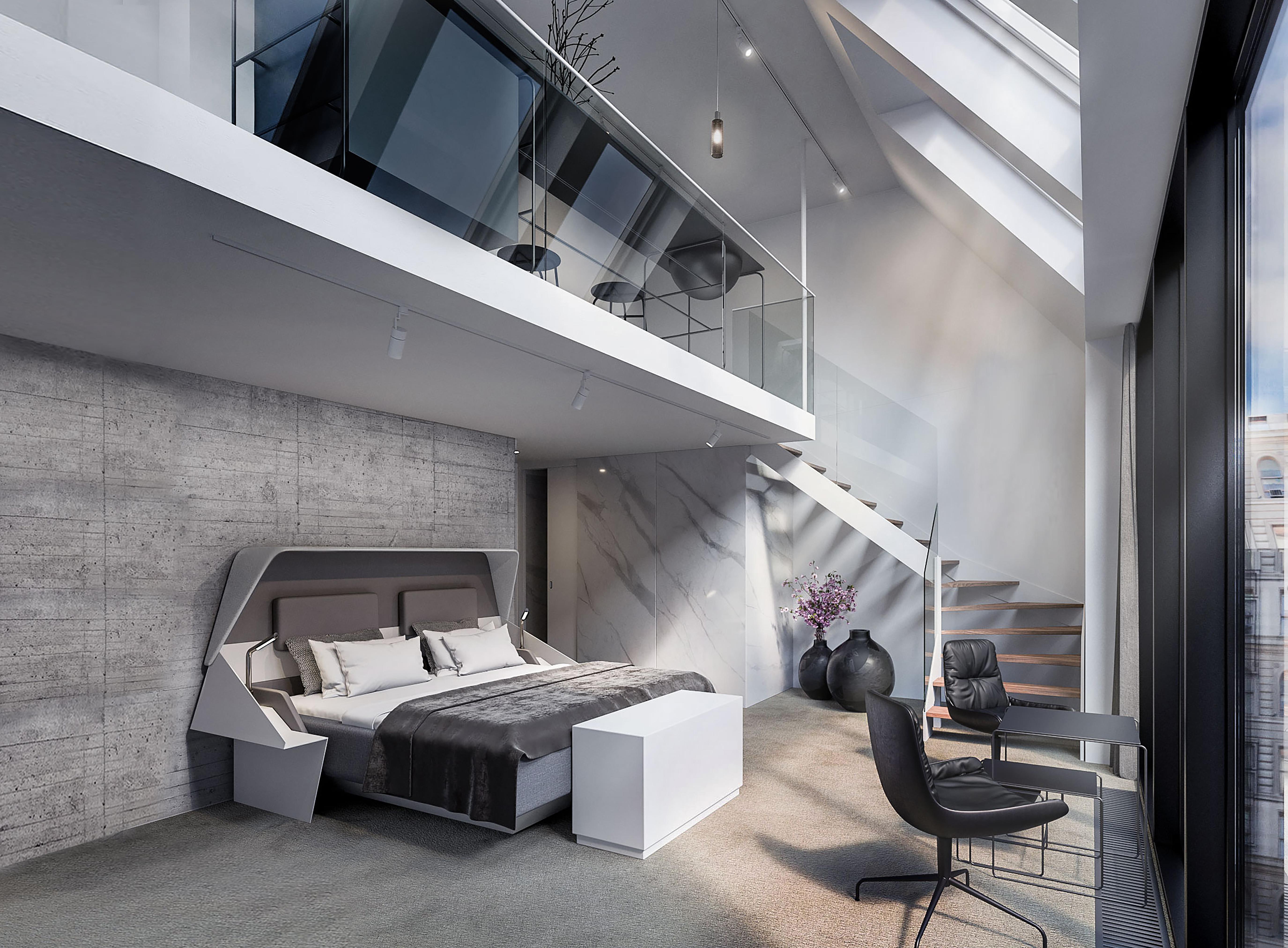 Penthouse-suiten på Hotel Herman K i København, der åbner næste måned. Foto: Brøchner Hotels.