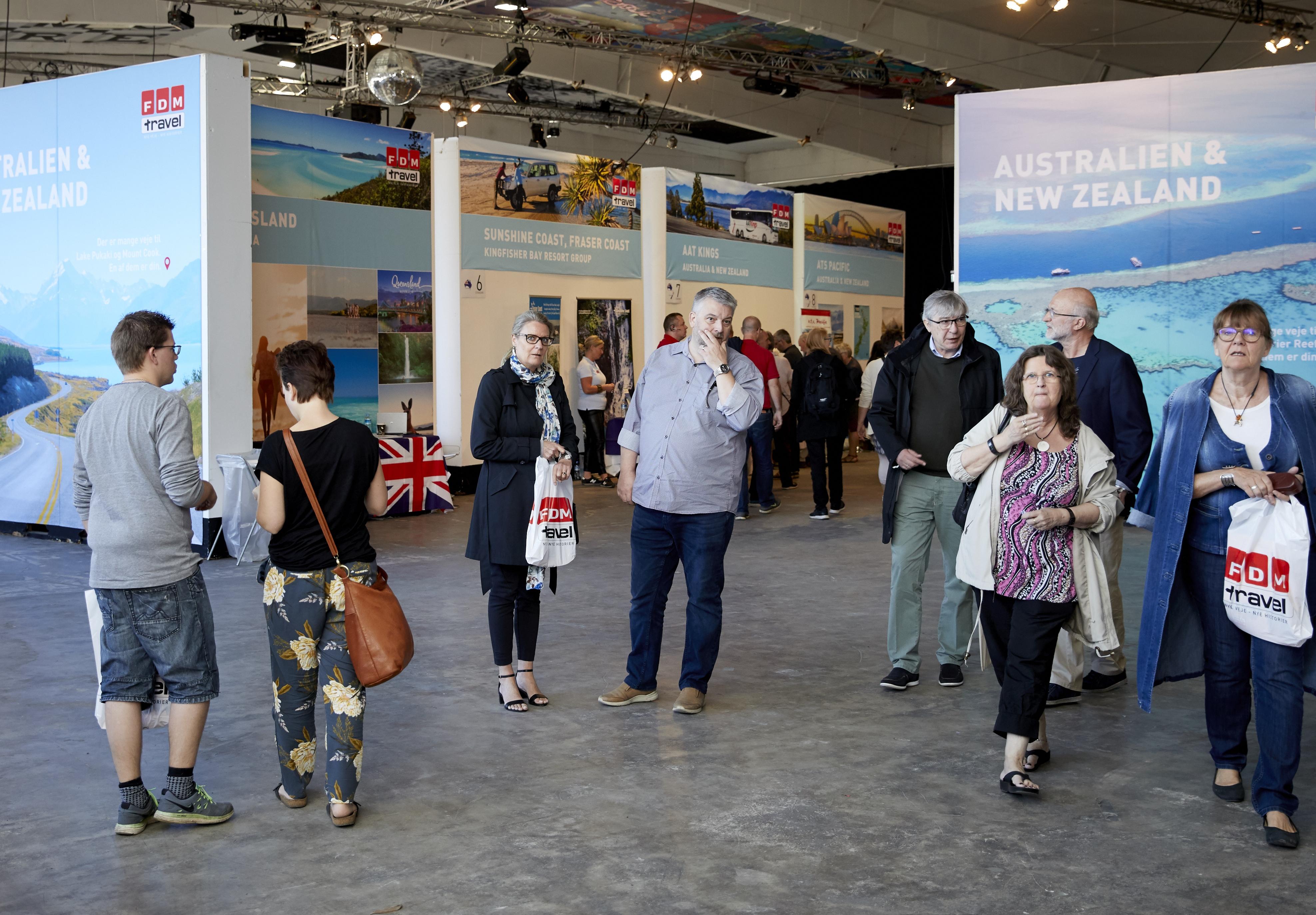 FDM Travel havde søndag i København debut for sin gratis publikumsmesse for rejser til Australien og New Zealand. Foto: FDM Travel.