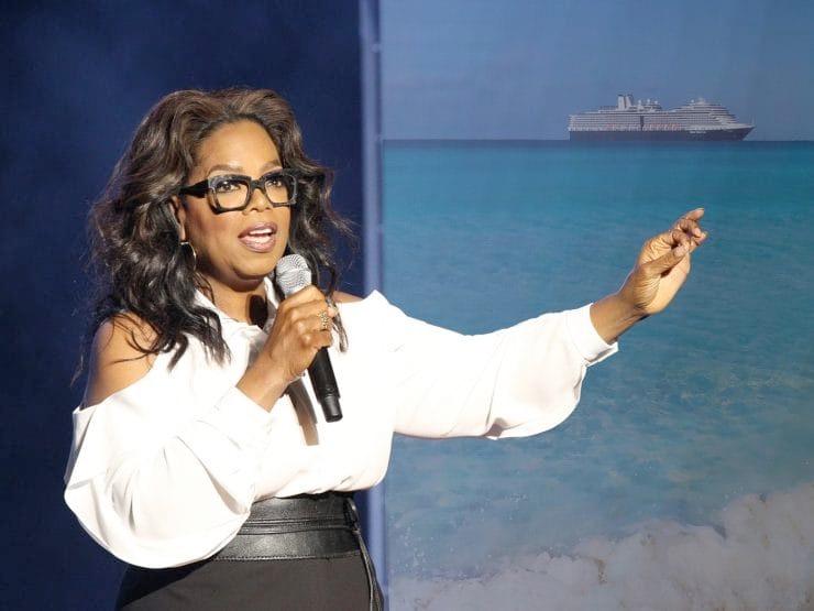 Verdensstjernen Oprah Winfrey bliver gudmor for rederiet Holland Americas nye krydstogtskib, Nieuw Statendam. Foto: Holland America Line.
