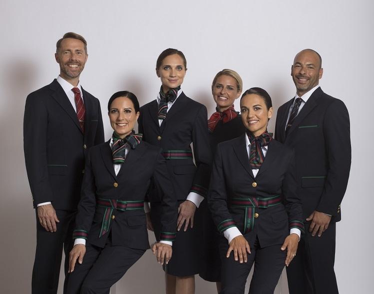 Klik på fotoet for at se Alitalias nye uniformer i større format. Foto: Alitalia.