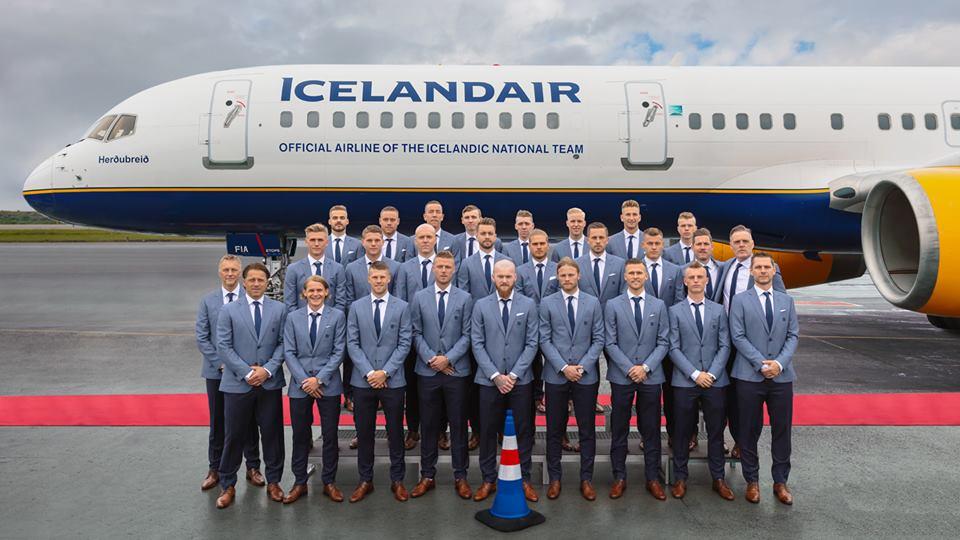 Icelandair fløj forleden det islandske landshold til dets første VM-slutrunde i fodbold. Foto: Icelandair.