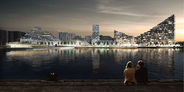 I 2020 åbner Scandic Hotels sit hidtil største danske hotel udenfor København. Hotellet på havnen i Aarhus, Scandic Aarhus Ø4, får 500 værelser og et stort kongrescenter. Illustration: Scandic Hotels.