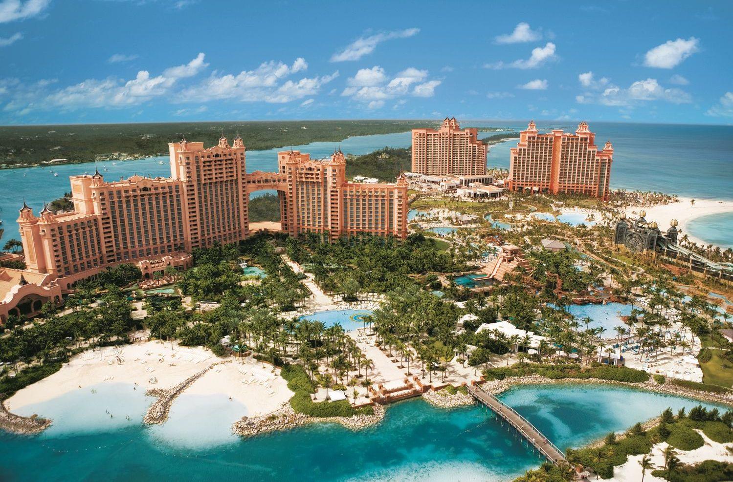 Stort hotelkompleks på Bahamas – uberørt af orkanen Irma i september sidste år. Arkivfoto.