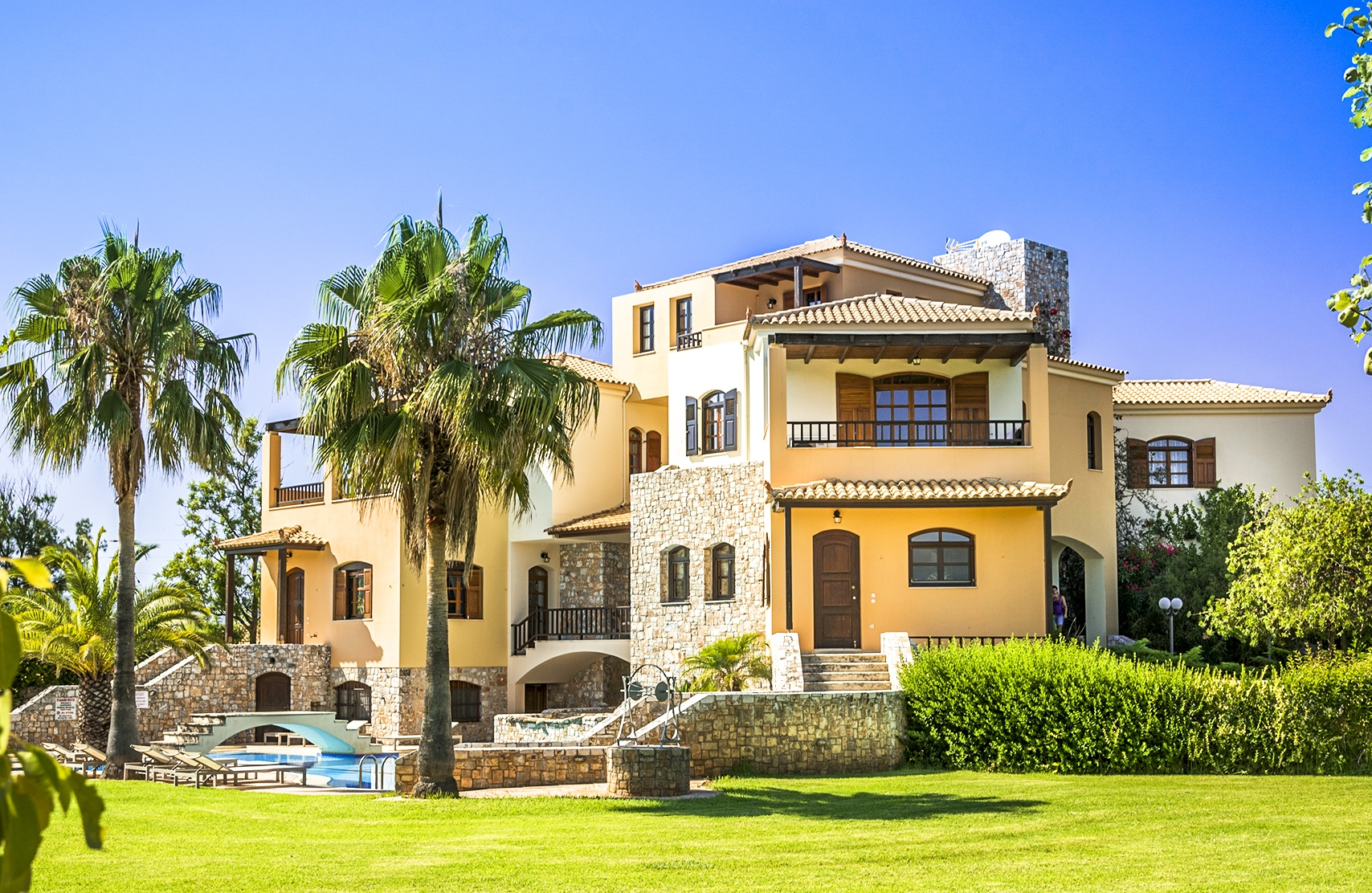 En af villaerne som Sun Tours tilbyder er denne på Grækenlands største ø, Kreta. Foto: Sun Tours.