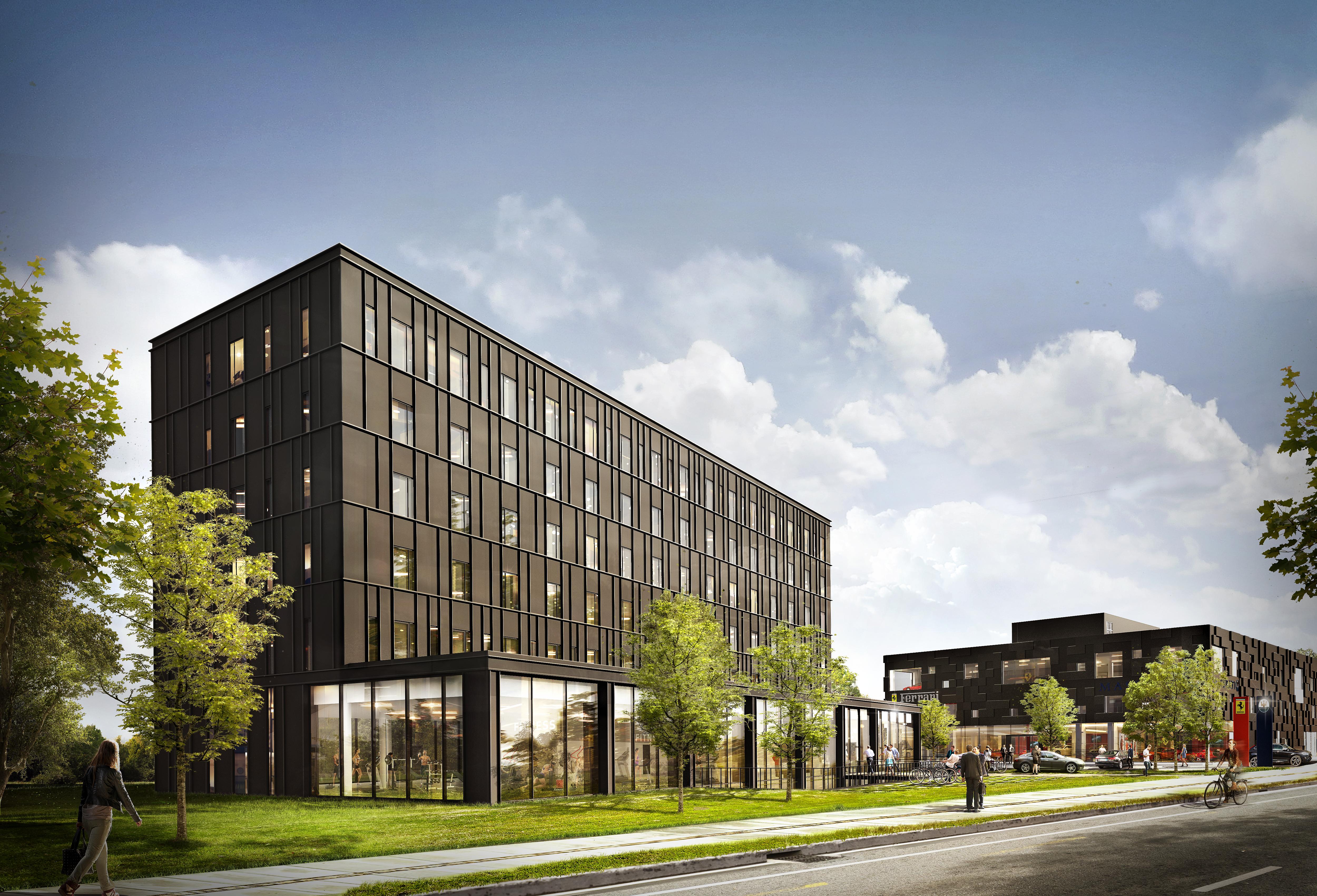 Det kommende Zleep Hotel i Lyngby åbner i 2020 med 112 værelser – 78 standard hotelværelser samt 34 hotellejligheder. Illustration: Zleep Hotels.