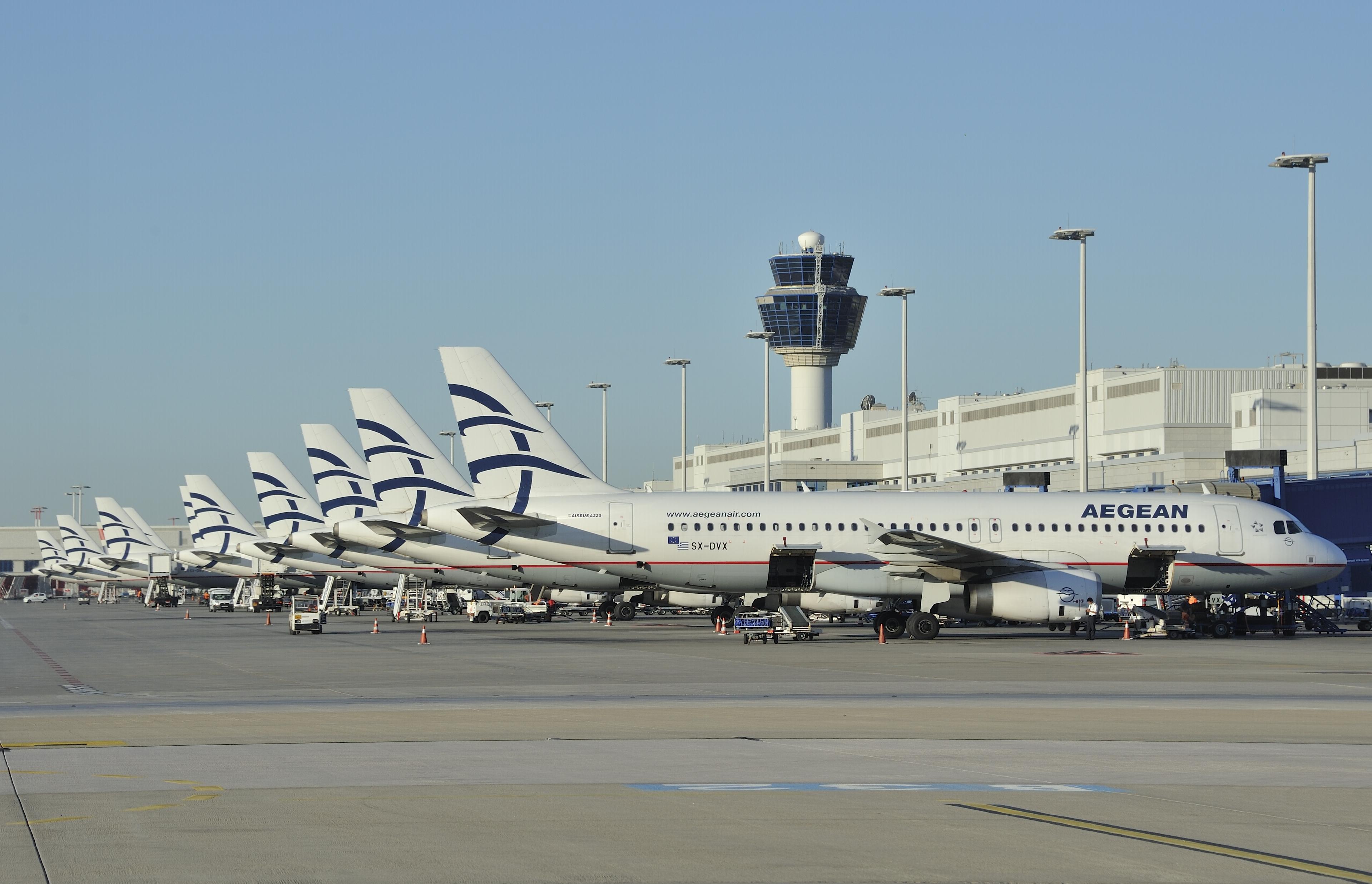 Star Alliance-medlemmet Aegean Airlines, der blandt andet fra Athen flyver til Københavns Lufthavn, er Grækenlands største flyselskab (foto: Aegean Airlines)