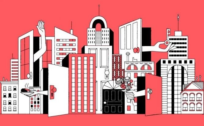 Airbnb får igen myndighedskritik, denne gang fra EU's Konkurrencekommissær. Illustration: Airbnb.