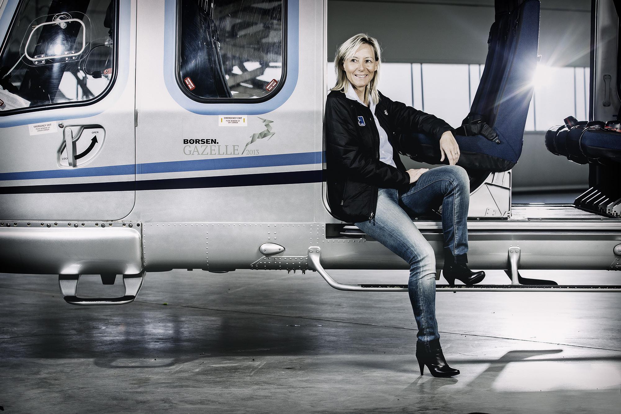 Selve Bel Air lettede første gang i 1994 – siden 2007 har Susanne Hessellund været eneejer af og administrerende direktør for det danske helikopterselskab. Arkivfoto.