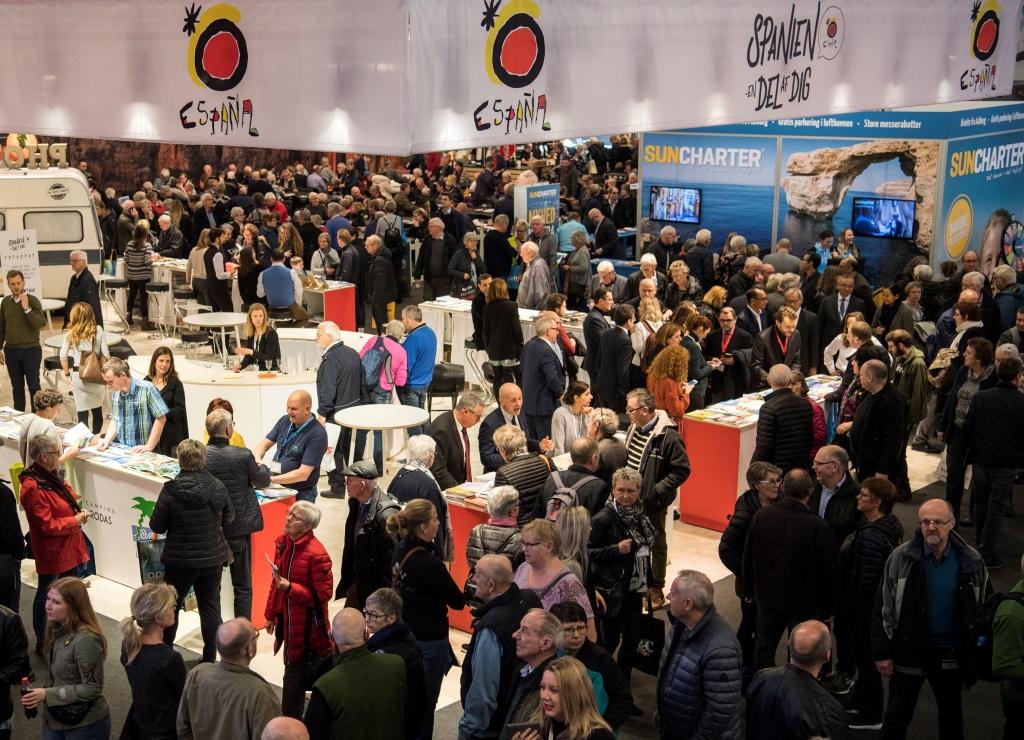Danskerne henter blandt andet inspiration til deres rejser på messer som Ferie for Alle i Messecenter Herning. Foto: MCH, Messecenter Herning.