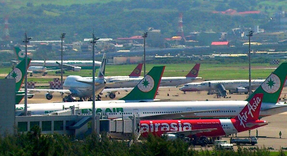 Taiwans hovedlufthavn ligger ved hovedstaden Taipei og hedder Taoyuan International Airport. Foto: KCS via Wikipedia.