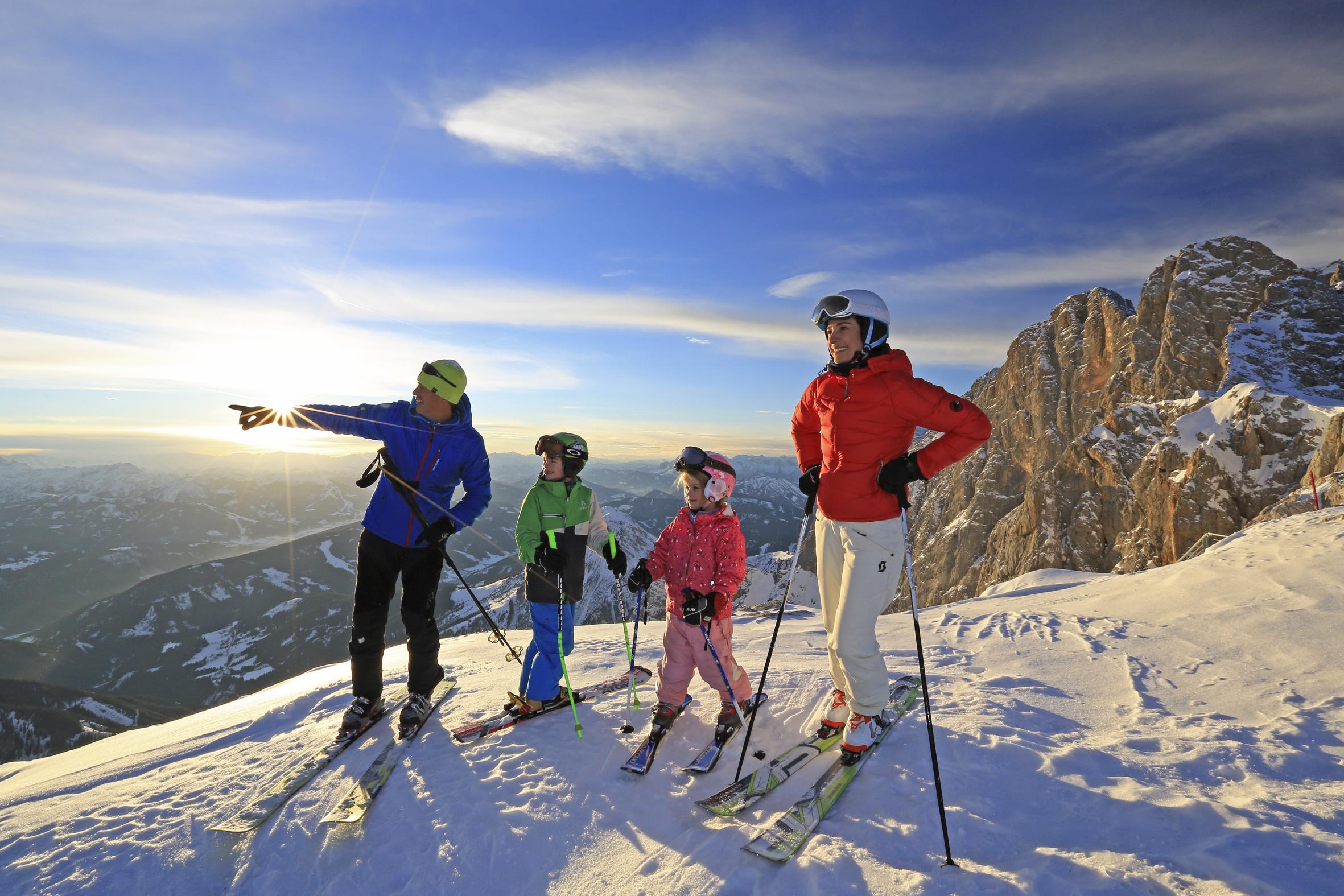Østrig er blandt danskernes skifavoritter. Foto: Schladming-Dachstein, Dachstein Gletscher, ©Herbert Raffalt.