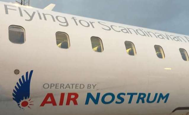 Air Nostrum flyver for SAS. (Foto: Ivan Baadsgaard)