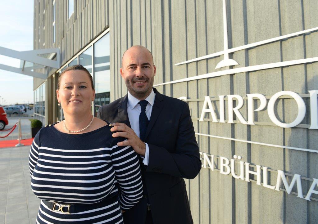 Anemette og Danni Bühlmann ved åbningen i 2014 af Aalborg Airport Hotel. Foto: Joakim J. Hvistendahl.