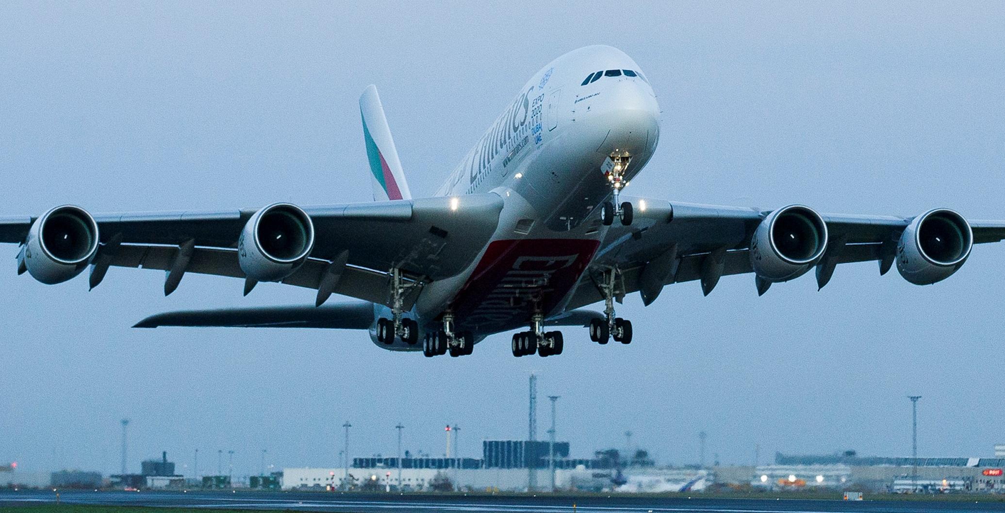 Emirates har klart største passagerfly i Københavns Lufthavn med selskabets daglige rute til og fra Dubai. Arkivfoto fra Københavns Lufthavn.