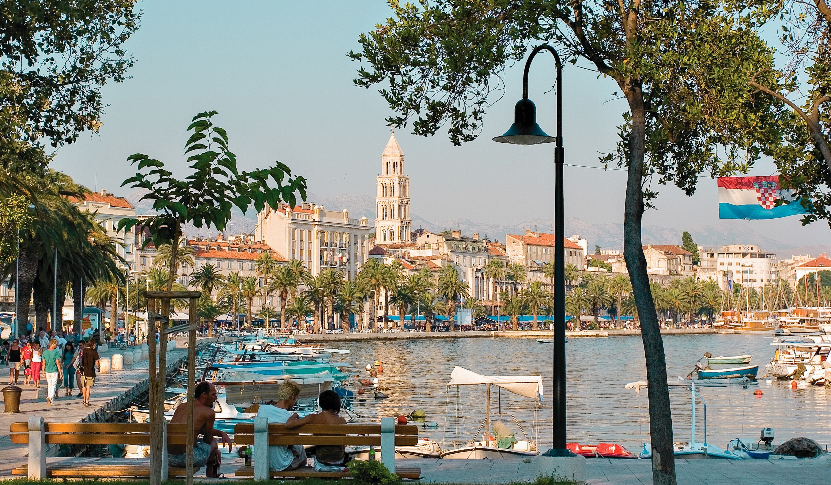 Fra Split i Kroatien, arkivfoto.