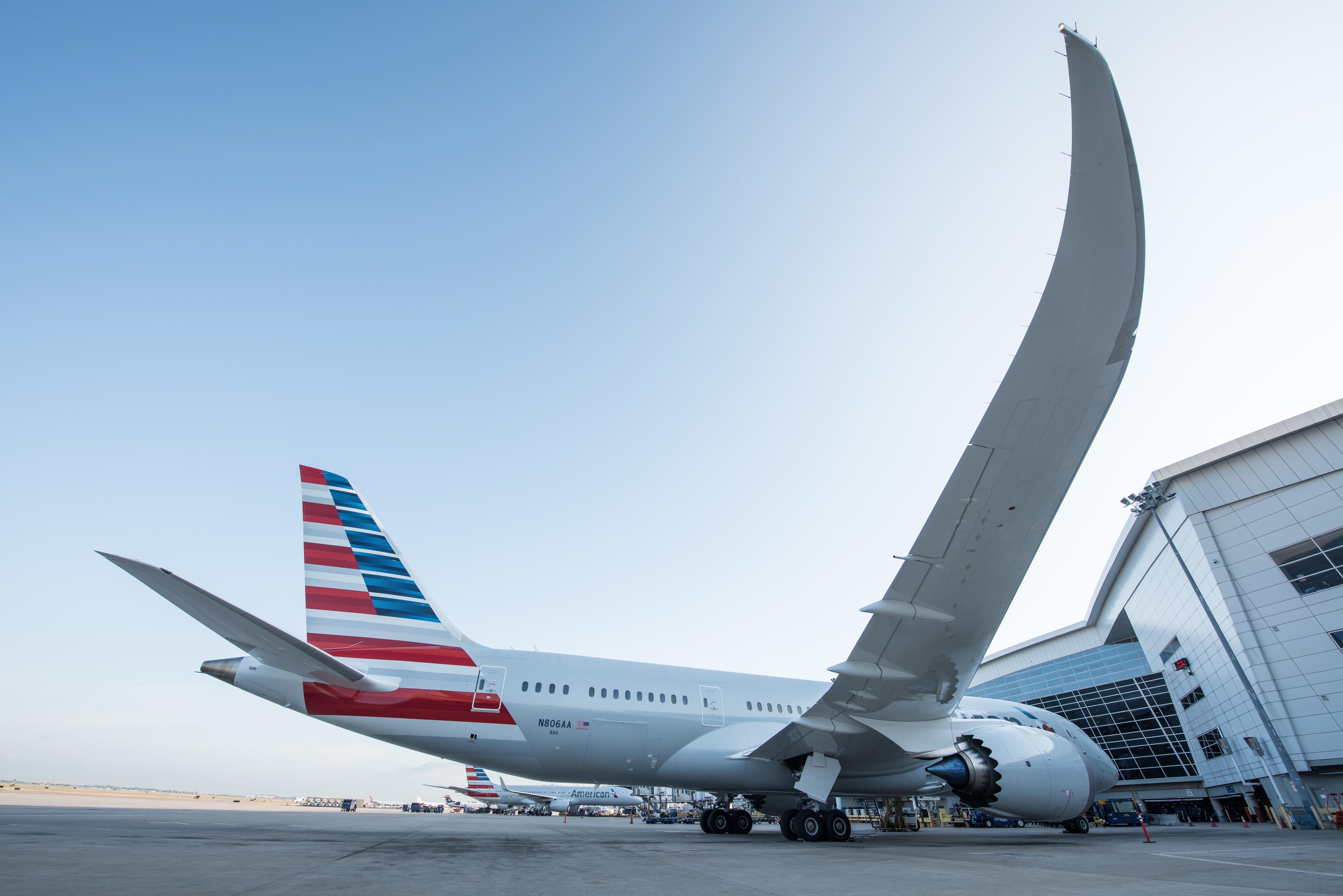 American Airlines skruer ned på betjeningen fra USA til Kina. Pressefoto fra lufthavnen i Dallas.