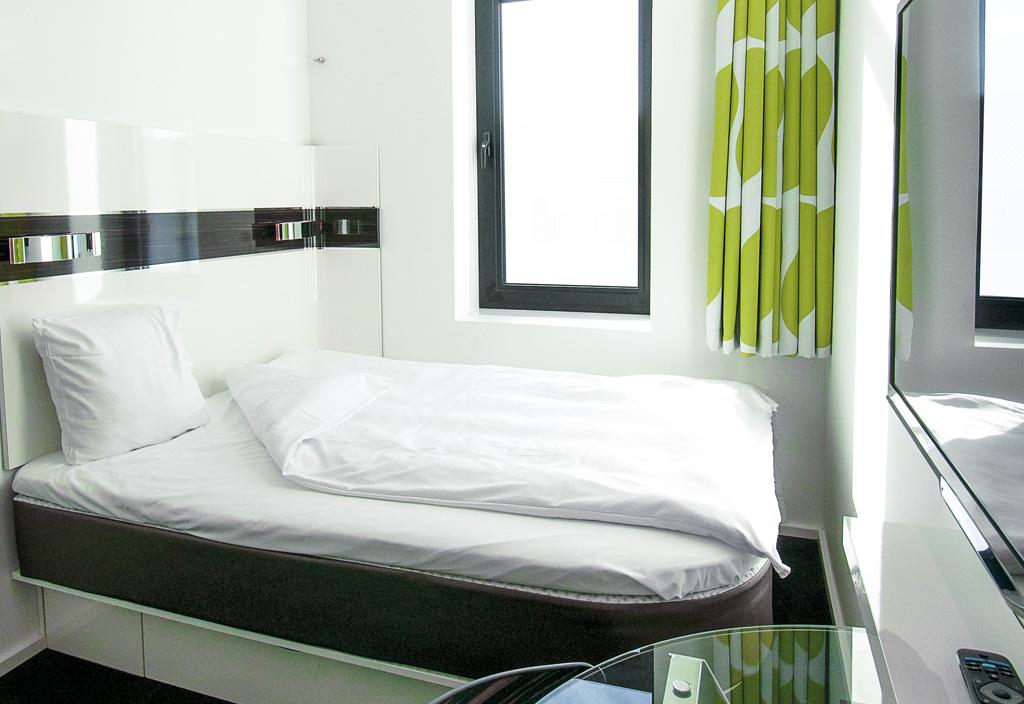 Københavns største hotelkæde, Arp-Hansen, har aircondition på næsten alle sine hoteller – også de 2-stjernede Wakeup-hoteller. Foto fra Wakeup-hotellet i Borgergade: Arp-Hansen Hotel Group.