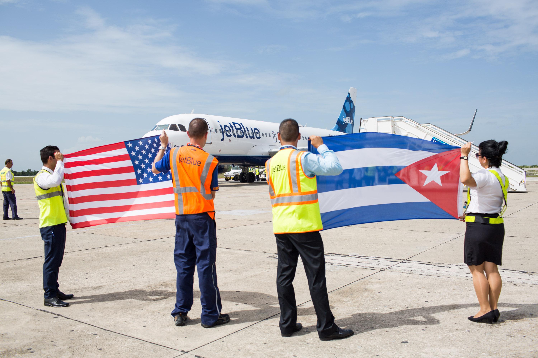 Jetblue Airways fra USA markerer sin første flyvning fra USA til Cuba. Arkivfoto fra Jetblue Airways.