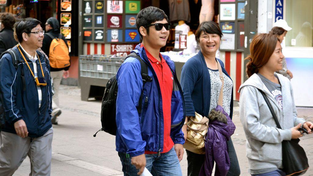 Kinesiske turister på besøg i København. Foto: Philip Kyhl.