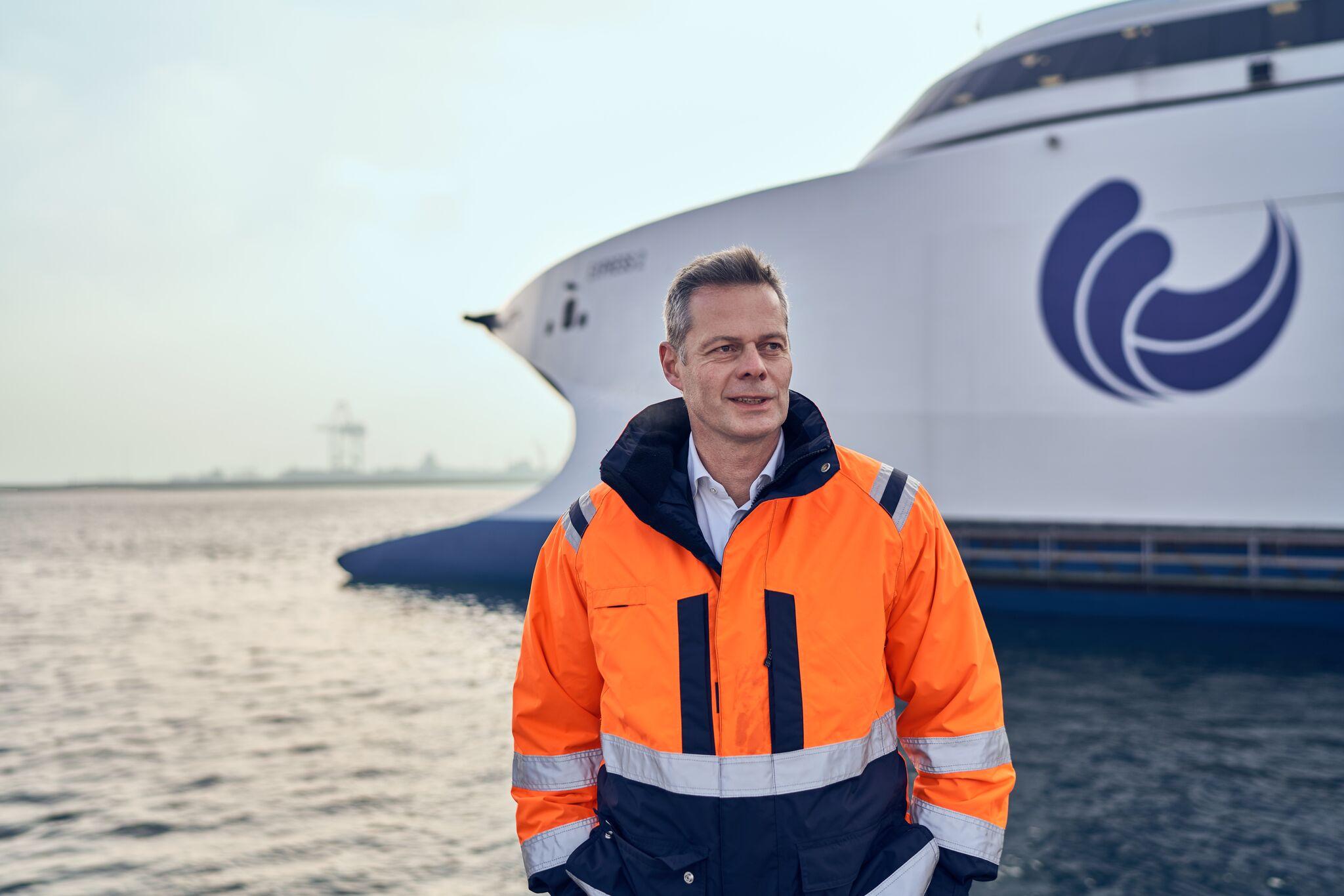 Carsten Jensen, administrerende direktør i Molslinjen, der nu også driver Bornholmslinjen. Pressefoto: Molslinjen.