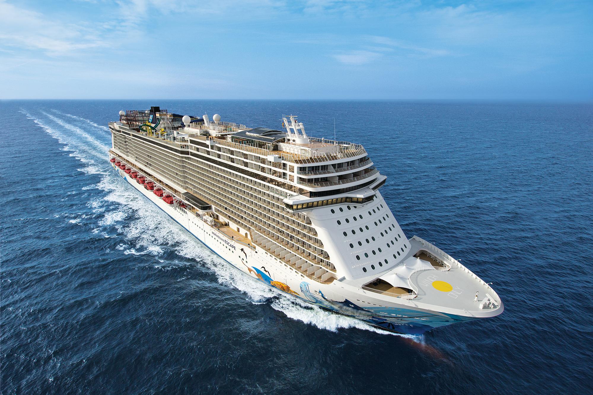 Norwegian Escape får i 2020 blandt andet krydstogter ud af Københavns Havn. Foto: Norwegian Cruise Line.