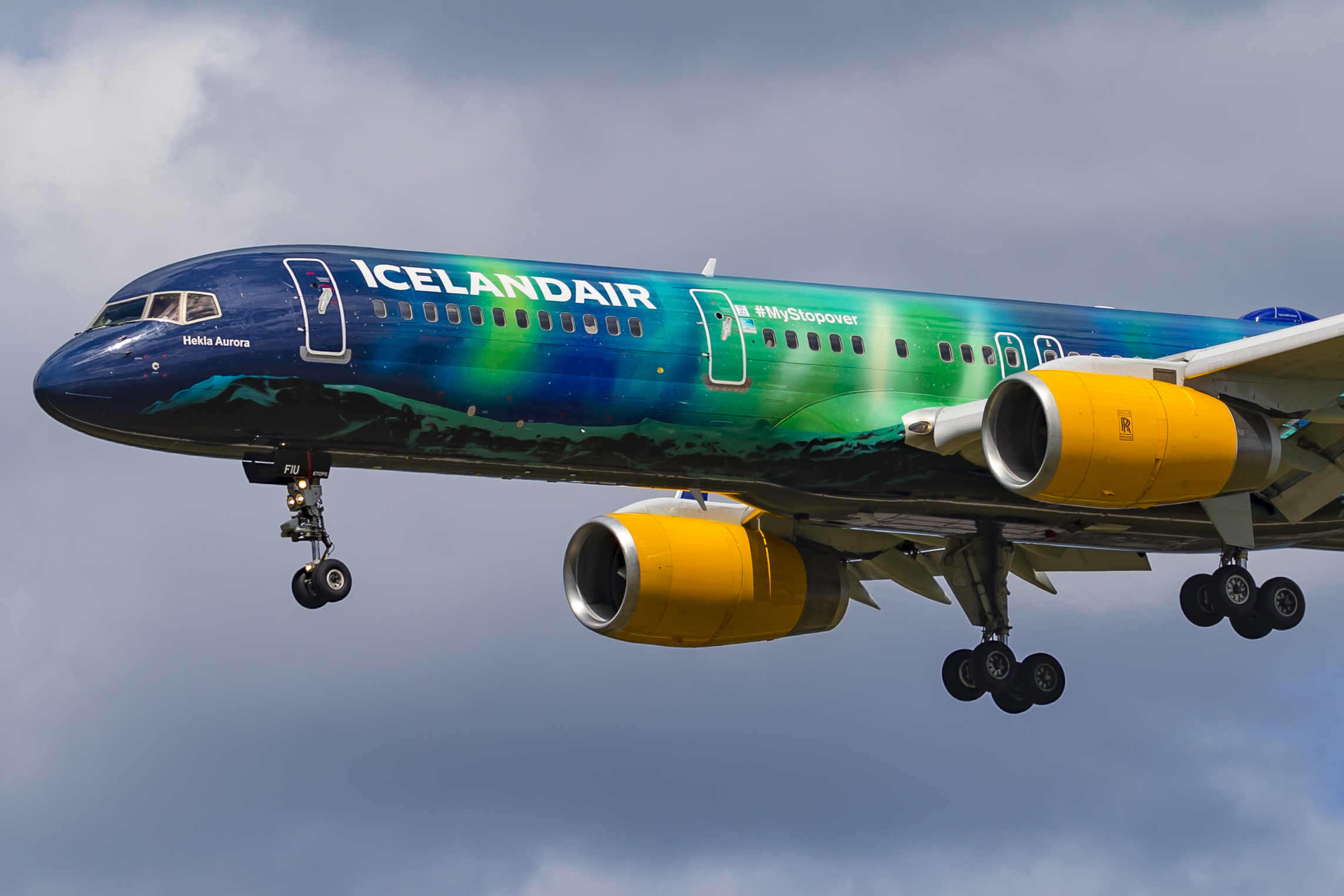 Boeing 757 Hekla Aurora fra Icelandair (Foto: © Thorbjørn Brunander Sund | Danish Aviation Photo)