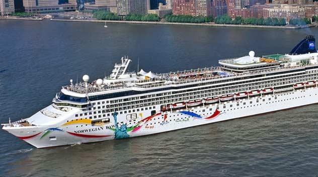 Krydstogtskibet Norwegian Dawn fra rederiet Norwegian Cruise Line. Pressefoto fra NCL.