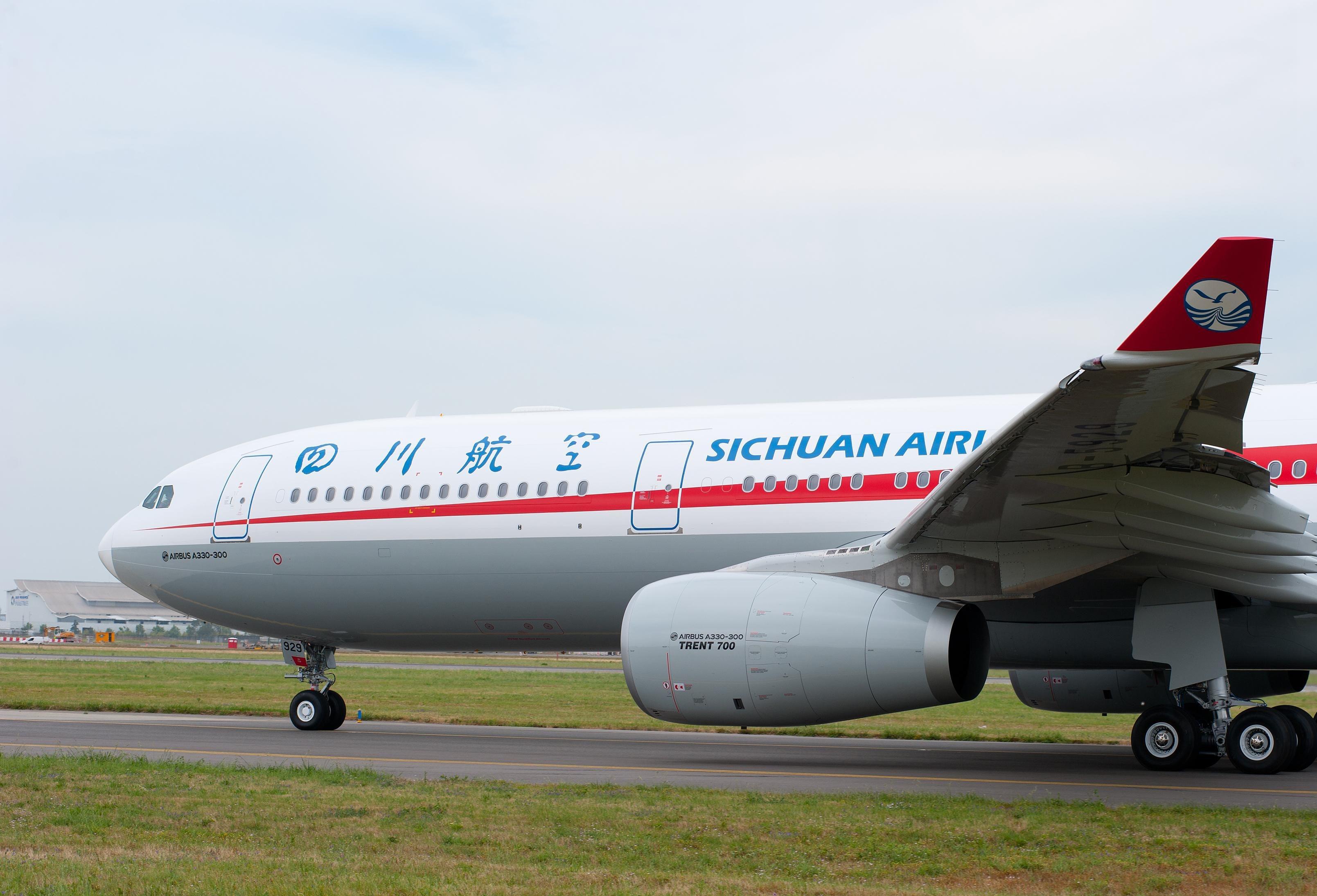 Sichuan Airlines vil betjene den kommende rute til København med Airbus A330-300, der har plads til 301 passagerer, 36 på business class og de øvrige 265 på økonomiklasse. Pressefoto for Airbus: H. Gousse.