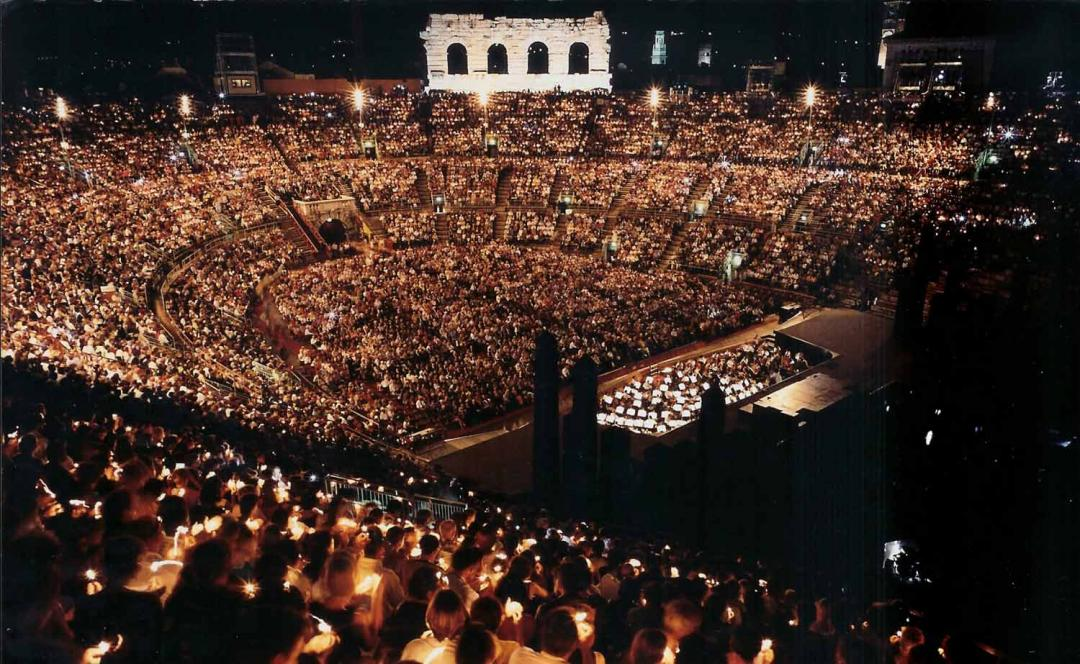 Arenaen i Verona; pressefoto fra: Arena.it