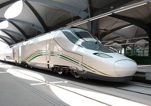 Haramain højhastighedstog mellem Mekka og Medina. (Foto: Saudi Railways Organisation)