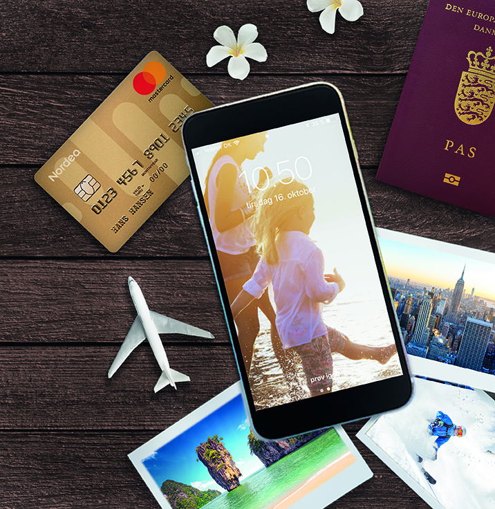 På weekendens Rejsemesse for Kvalitetsrejser deltager blandt andet Nordea for at sætte fokus på de fordele, mange har indbygget i deres betalingskort, herunder en rejseforsikring. Pressefoto: Nordea.