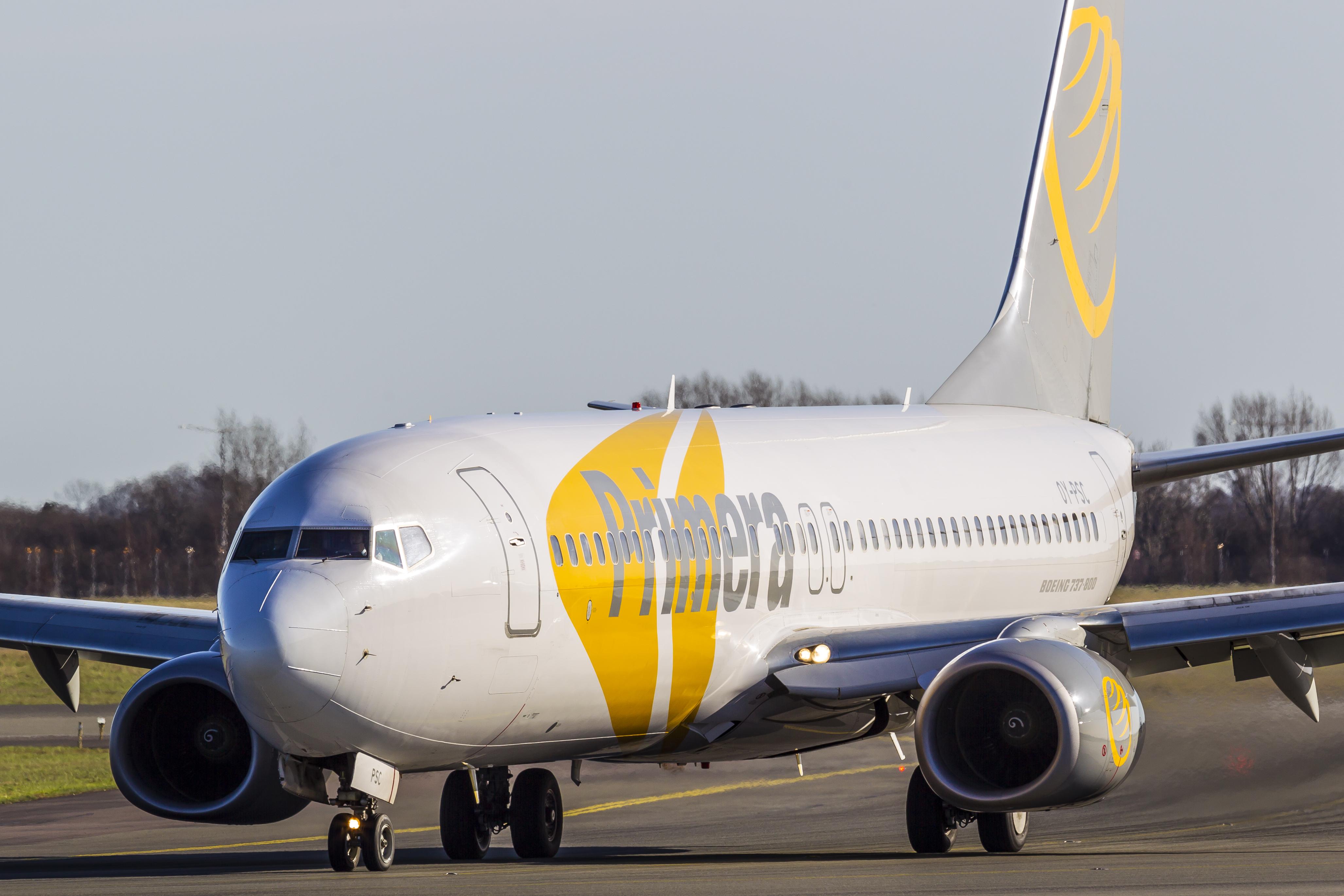 Konkursen hos islandske Primera Air har fået Primera Air Travel Group til at skifte navn til TravelCo Nordic – koncernen består blandt andet af Danmarks tredjestørste charterrejsebureau, Bravo Tours. (Arkivfoto: © Thorbjørn Brunander Sund, Danish Aviation Photo)