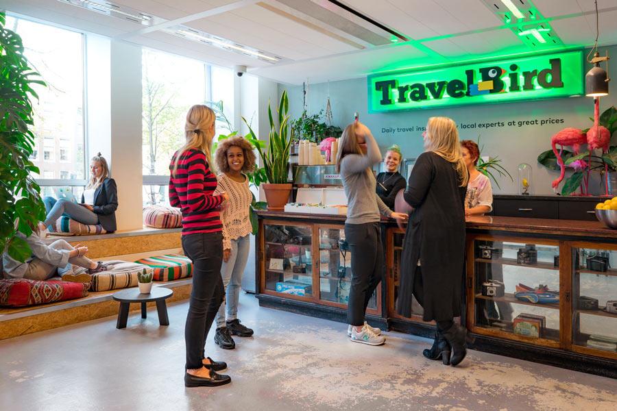 Kun kunder der har købt rejser fra rejsebureauer registreret i Rejsegarantifonden i Danmark kan få hjælp fra fonden ved konkurser. Dette var hollandske TravelBird ikke. Foto fra TravelBirds hollandske hjemmeside.