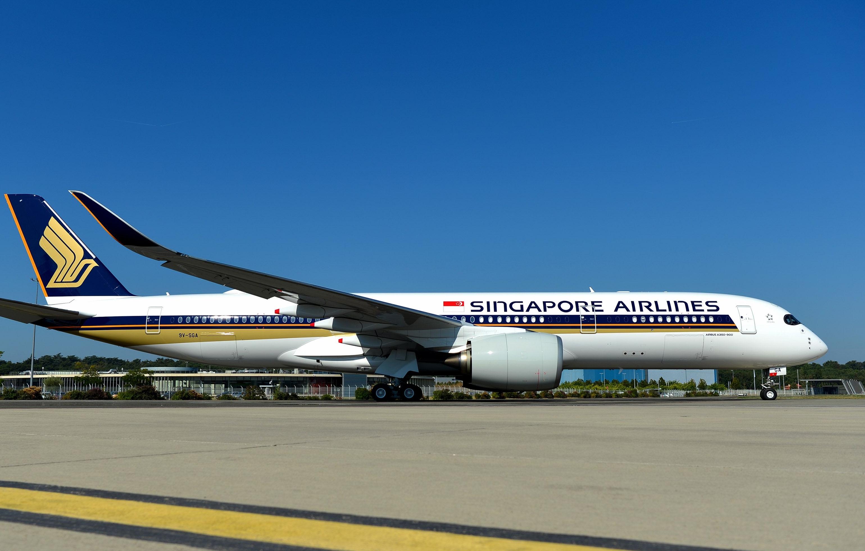 Airbus A350-900 ULR-flyet der vil overtage positionen på verdens hidtil længste passagerrute – mellem Singapore og New York Newark. Pressefoto for Airbus: H. Gousse.