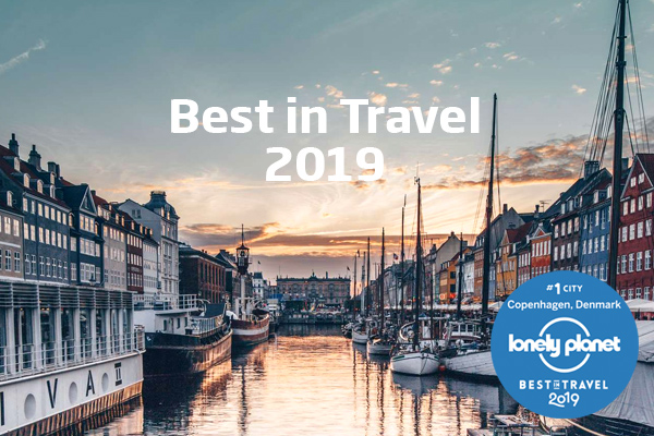 Pressefoto fra VisitDenmark med Lonely Planet-logoet.