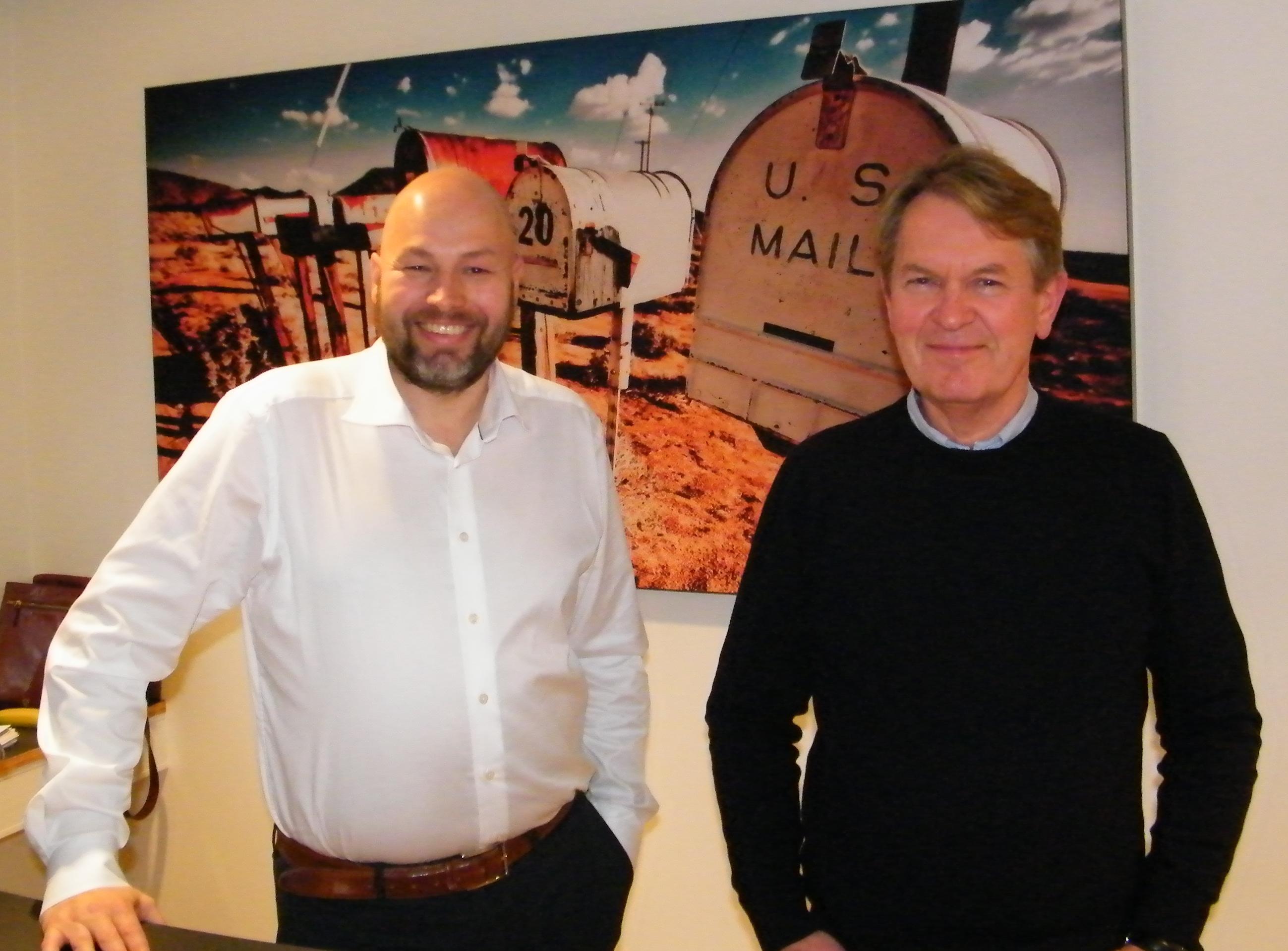 FDM travels administrerende direktør, Anders Iversen, til venstre, med salgs- og indkøbschef Jesper Ewald. Foto: Henrik Baumgarten.