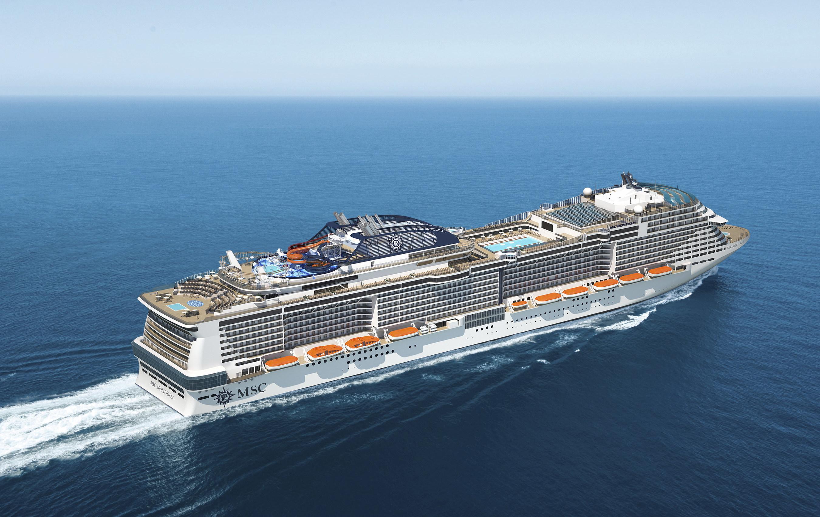 MSC Meravigllia vil besøge Københavns Havn 22 gange i 2019. (PRNewsFoto/MSC Cruises USA)