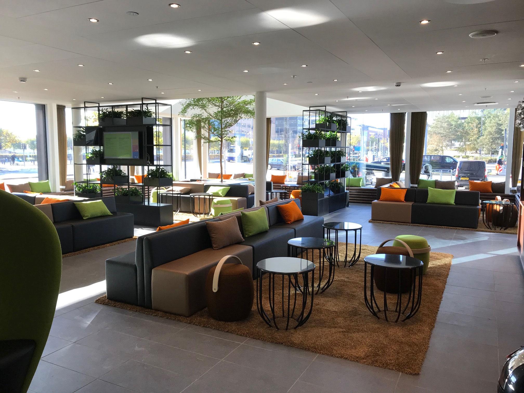 Et kig ind i den store lobby på Wakeup 3-hotellet i København, der åbnede sidste måned. Foto: Arp-Hansen Hotel Group.