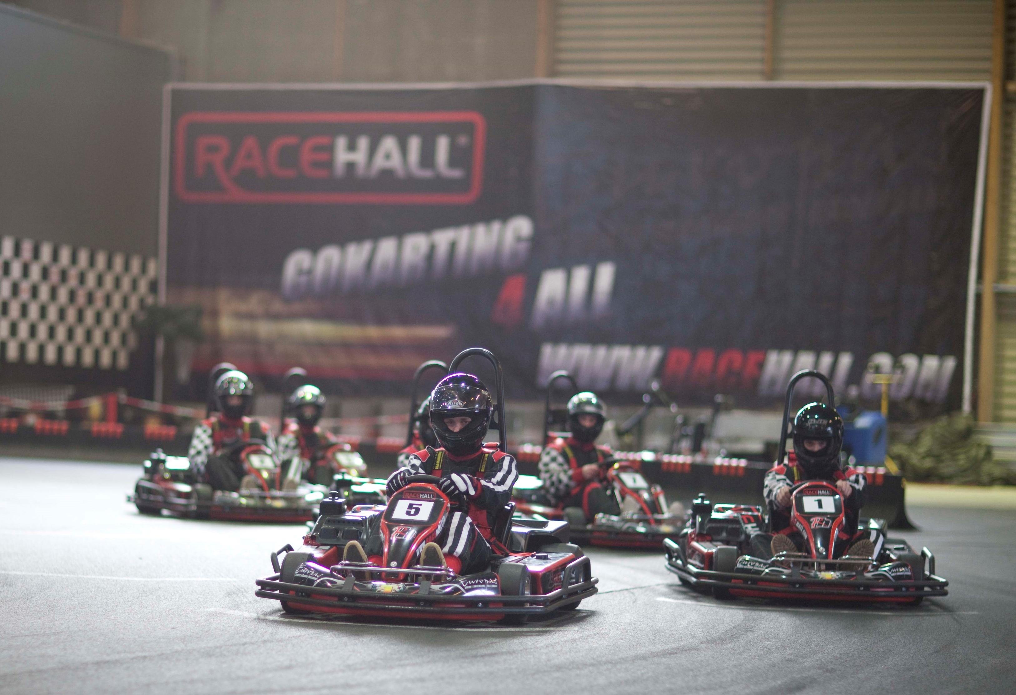 Kommer initiativtagerne over målstregen med planen, så åbner verdens største indendørs gokartbane om et års tid i Høje-Taastrup ved København. Pressefoto: Racehall.com