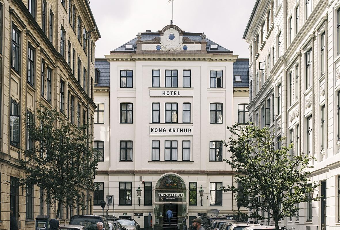 Boutiquehotellet Kong Arthur i København skal udbygges med hvad der samlet bliver til 59 flere værelser. Foto: Arthur Hotels.
