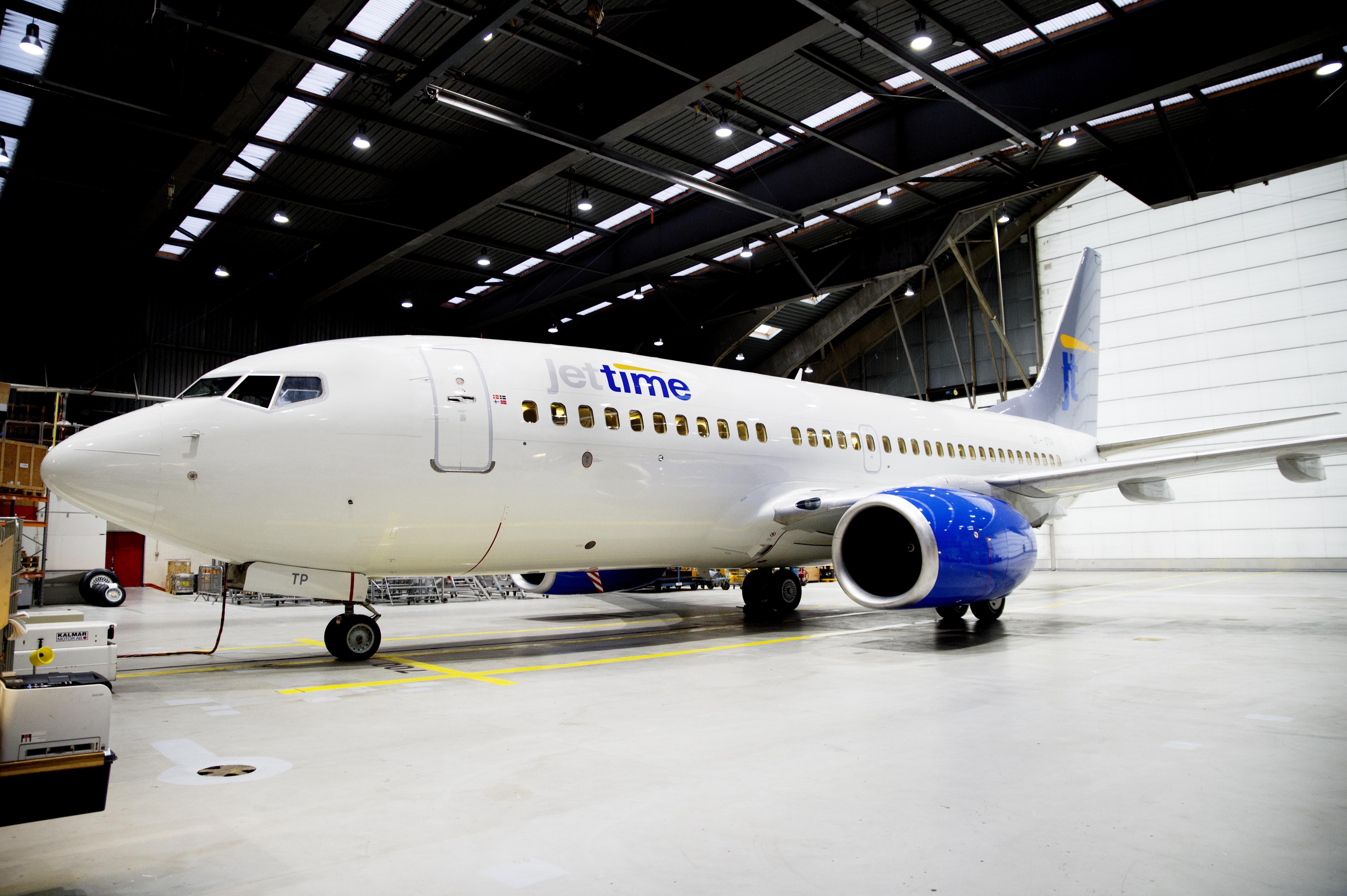 Danske Jet Time er på vej fra at have seks Boeing B737-700NG til i disse måneder at få yderligere fire B737-800. Foto: Erik Refner.