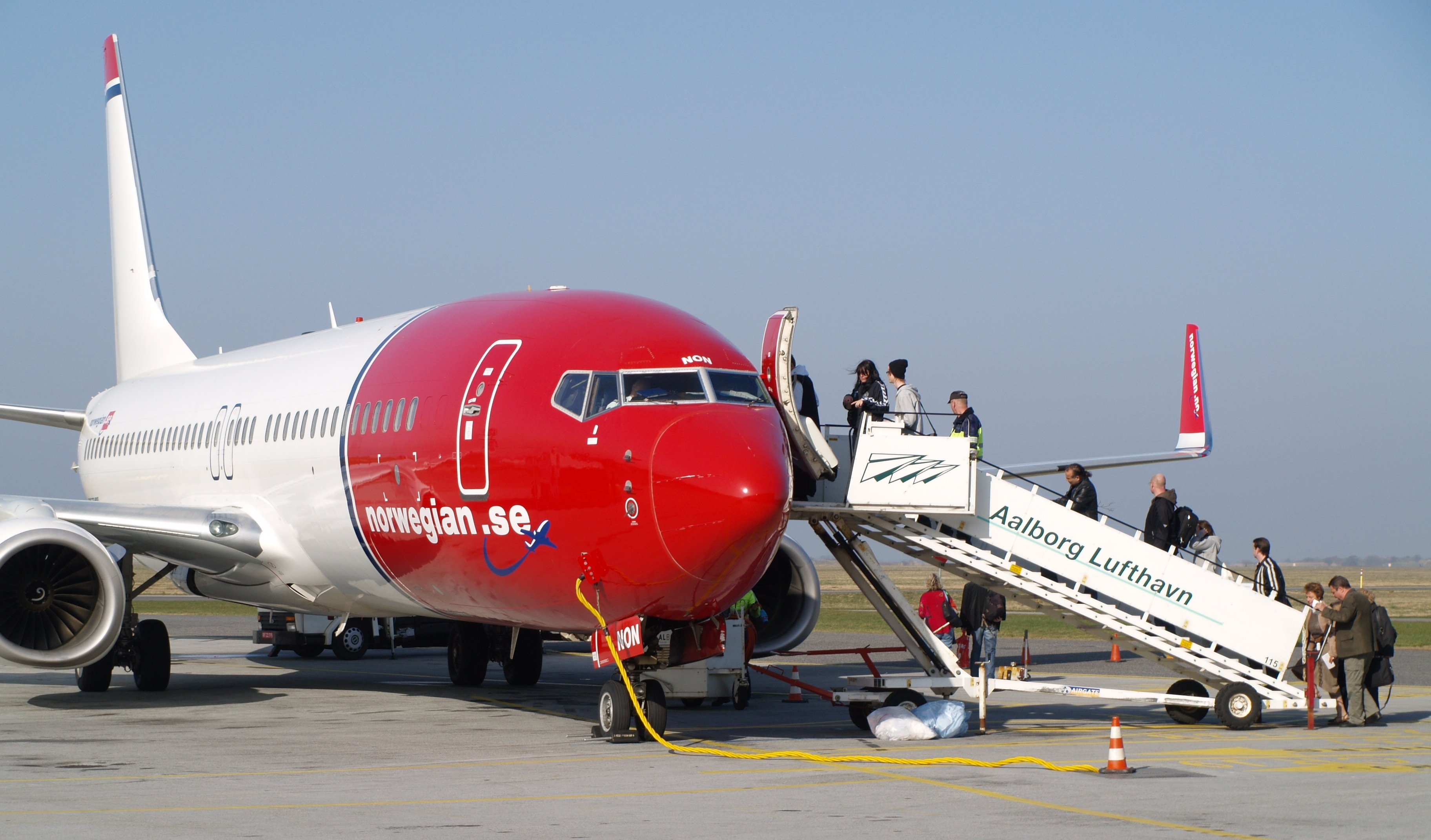 Norwegian er fortsat blandt de flyselskaber der er storleverandør af flyrejser til det offentlige i Danmark på rejser i ind- og udland. Arkivfoto fra Aalborg Lufthavn.