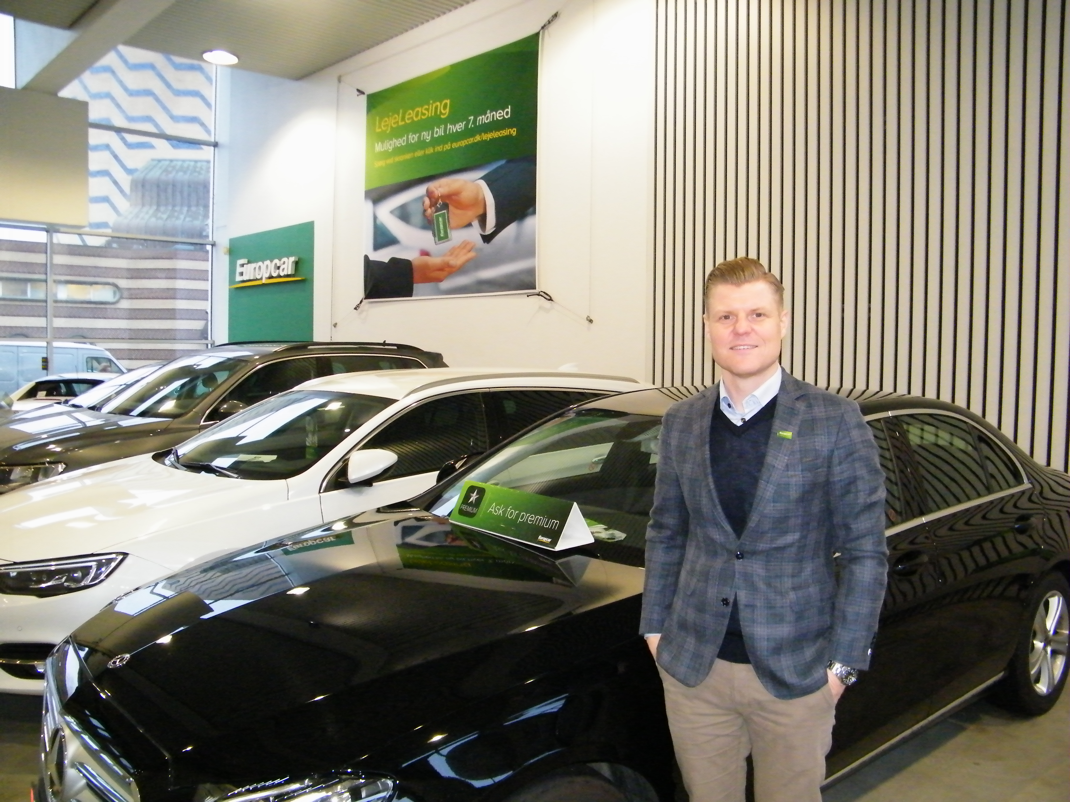 40-årige Christian Øien er ny salgsdirektør hos Europcar i Danmark. Foto: Henrik Baumgarten.