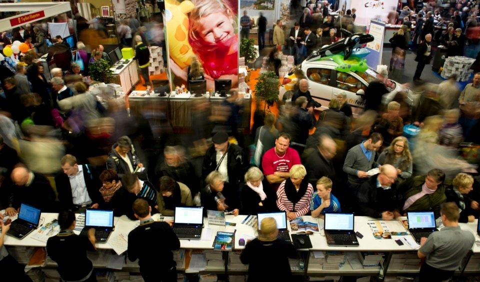 Ferie for Alle afvikles i år med over 1.100 udstillere fra mere end 30 lande, der forventes atter omkring 60.000 besøgende under weekenden. Foto: Messecenter Herning.