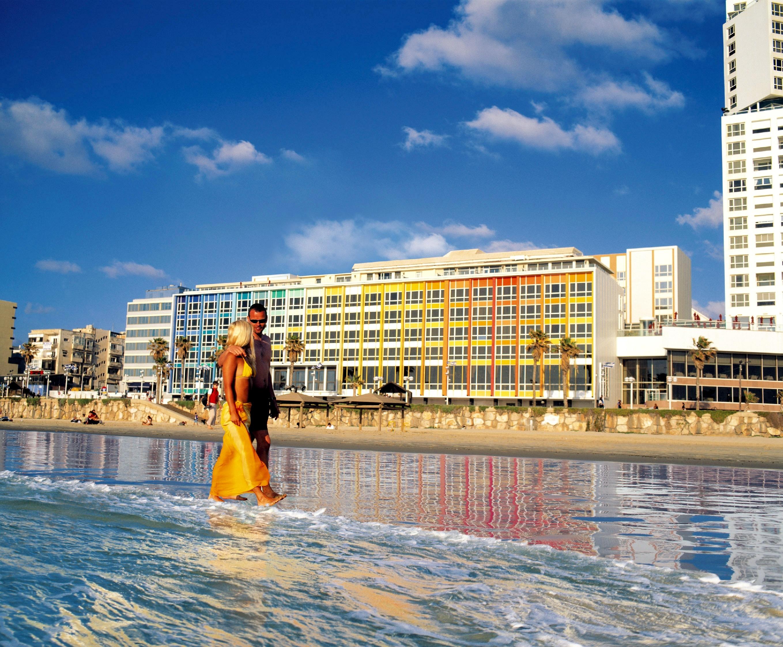 Væksten i turismen til Israel er høj – men det kniber med at få flere hotelværelser. Her er det stranden ved Tel Aviv. Foto: Den Israelske Stats Turistbureau