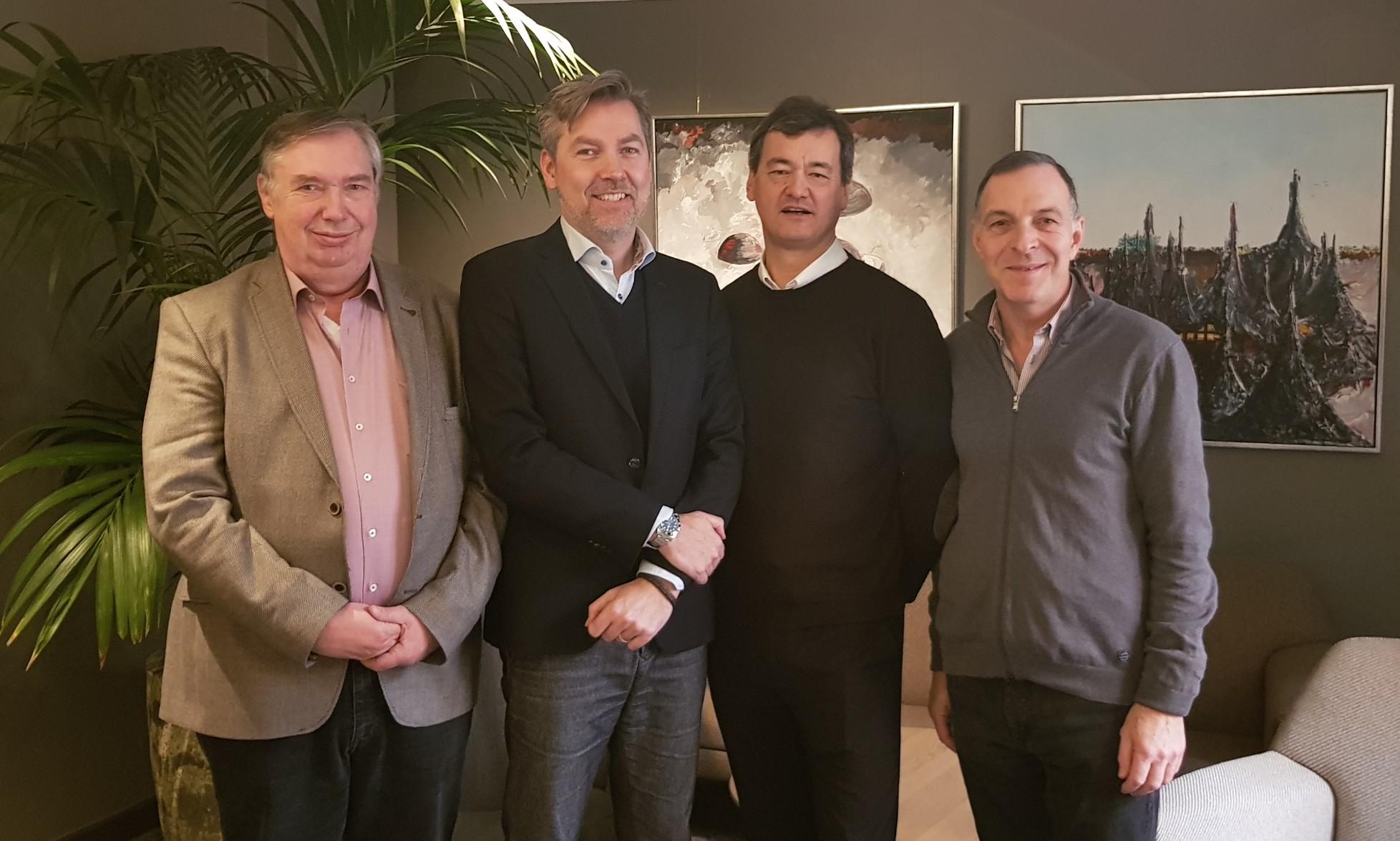 Bestyrelsen for BARID – Board of Airline Representatives In Denmark; fra venstre Per Levring, Morten Balk fra Emirates, Marc Sam fra Air Canada og den nyvalgte formand, Patrick Menzies. Foto: BARID.