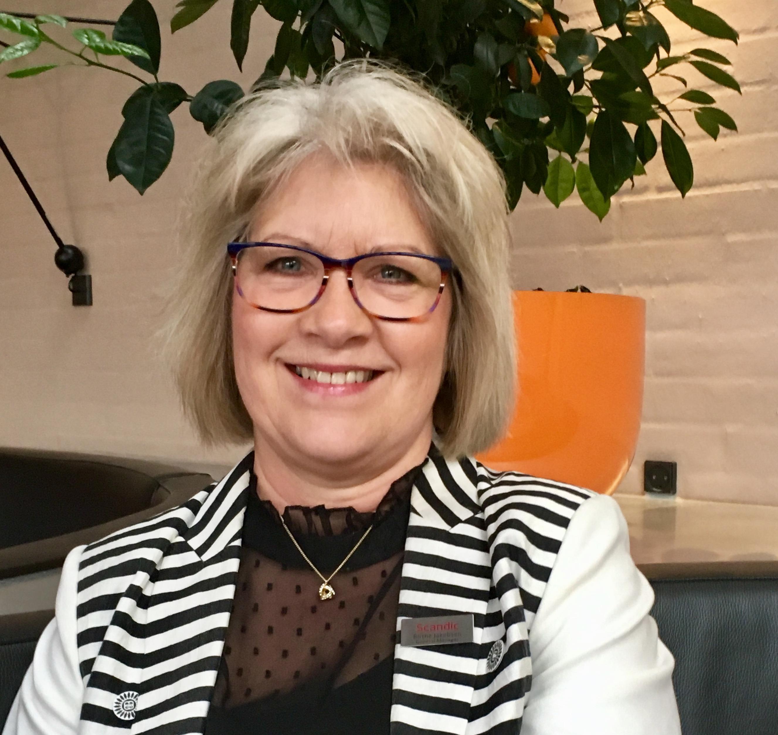 Birthe Jakobsen går med udgangen af maj på pension efter 18 år i spidsen for Scandic Silkeborg og i alt 32 år i hotelkæden. Privatfoto.