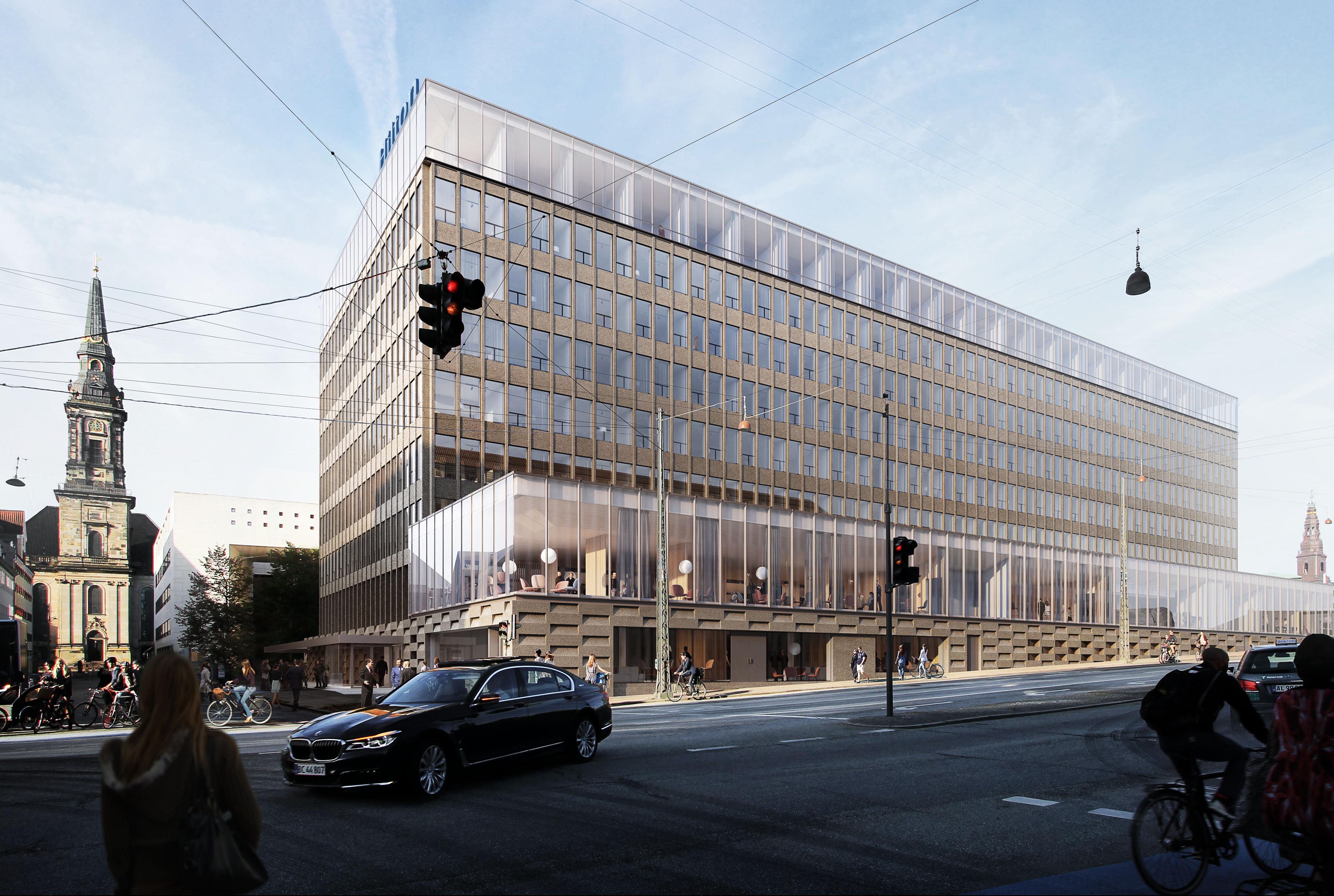 Sådan kommer Hilton Copenhagen City til at se ud. Illustration via: NCC Engineering og Arkitema Architects.