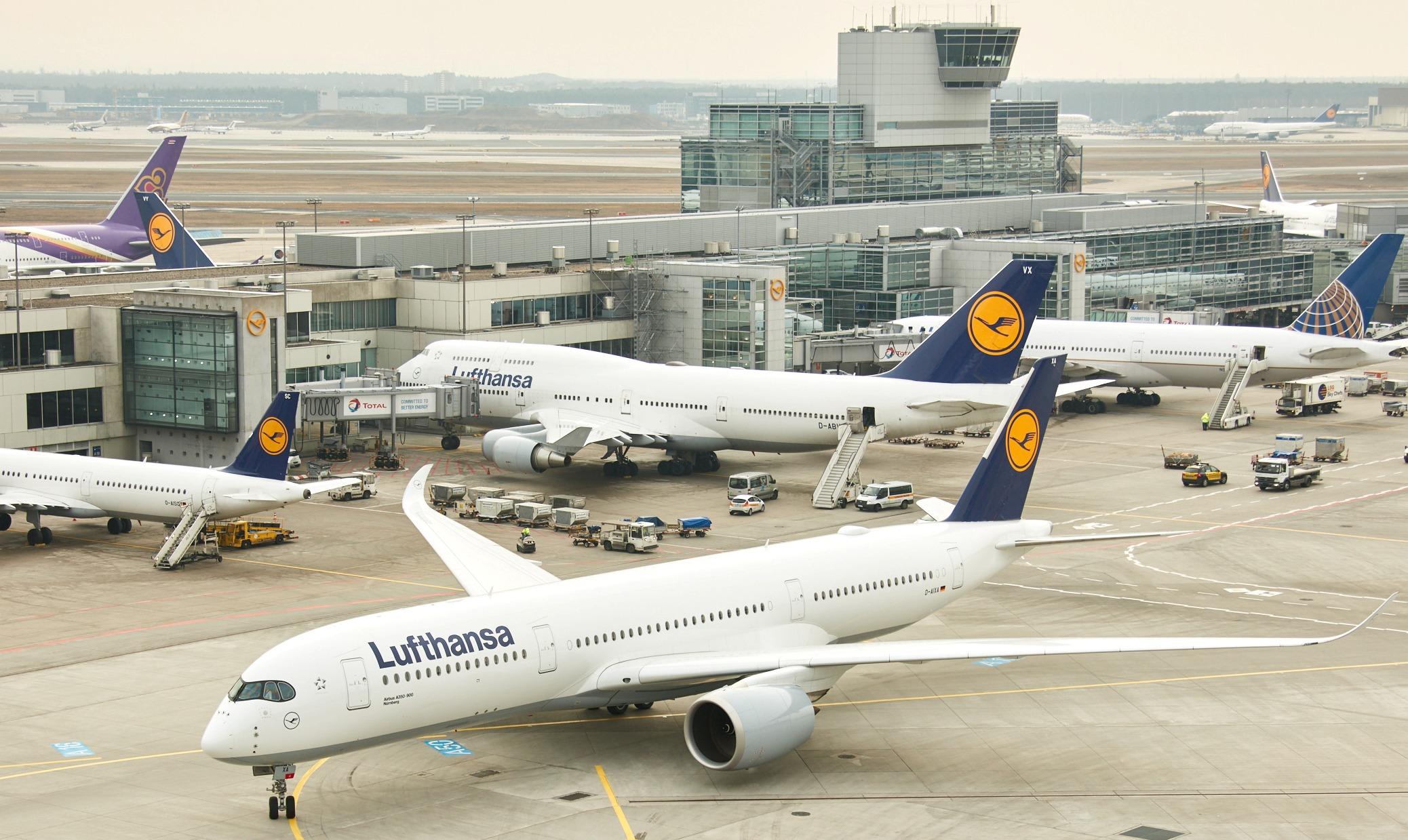 Lufthansa vinder i år prisen som Airline of the Year 2019 – her er foto fra selskabets hovedlufthavn, Frankfurt. Pressefoto: Lufthansa.